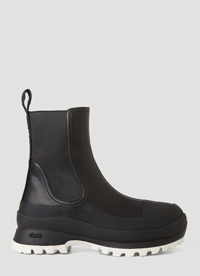 Stella McCartney Trace Faux-Leather Chelsea Boots