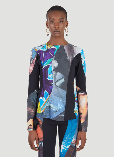 Rave Review Nala Upcycled Space Cartoon Top